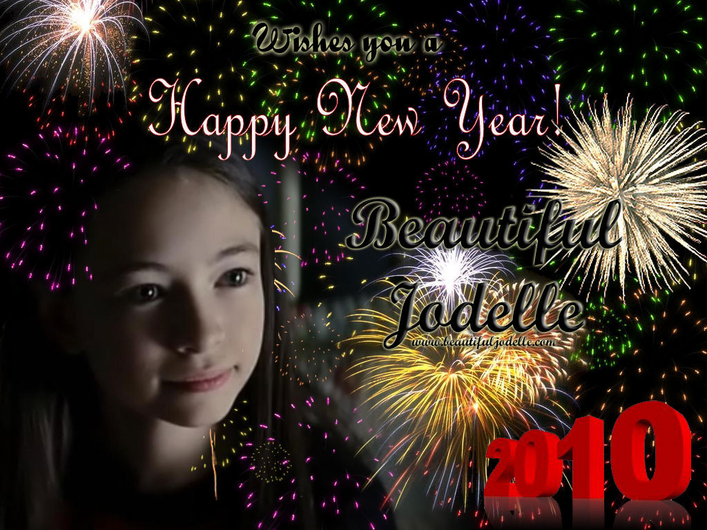 Beautiful Jodelle Wishes you a Happy New Year
