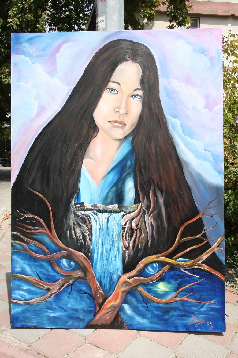 Jodelle Ferland Painting